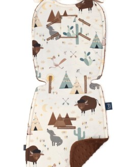 STROLLER PAD - BUFFALO - CHOCOLATE