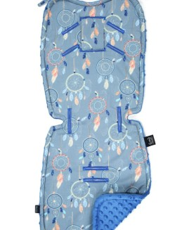 STROLLER PAD - DREAMCATCHER - ELECTRIC BLUE