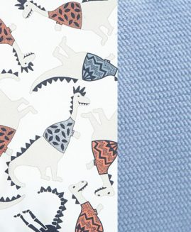 VELVET COLLECTION - PODUSIA SLEEPY PIG - JURASSIC - DOVE BLUE`